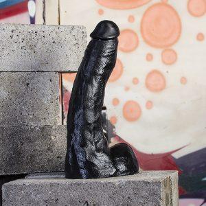All Black 22 cm Realistische Dildo #63