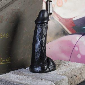All Black 23 cm Realistische Dildo #64