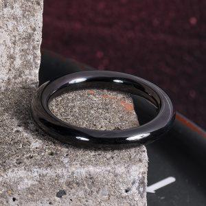 RVS cockring Zwart 8mm rond