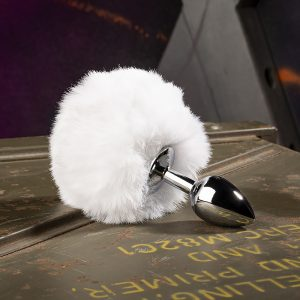 Bunny Tail Buttplug Wit