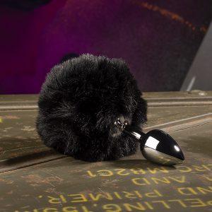 Bunny Tail Buttplug Zwart