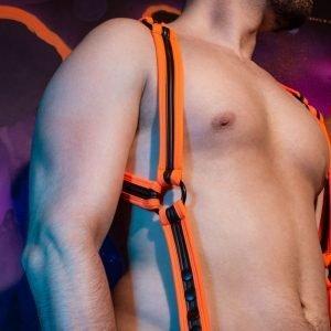 Neopreen Heckler Harnas Zwart/Oranje