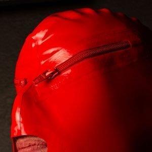 Rood Latex Rits Masker
