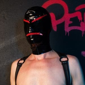 Latex Rode Ritsen Masker