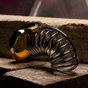 Steel Ringed Chastity Cage